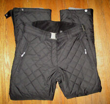 Womens NEVICA Black Quilted Ski/Snowboard Pants w/RECCO Rescue System Sz 32 NWOT