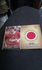 Topps Authentics Premier Gold Club Legend Match Worn Shirt Card Michael Owen 350