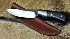 Bogensport Federstahl Gürtelmesser Messer Jagdmesser m.Lederscheide Magic-Knife