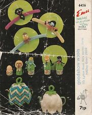 Fotocopia Vintage Tejer patrón EMU 6456 Perchas Té Acogedor huevo acogedor