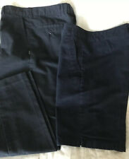 Boys Size 14 Navy Blue Husky Nunes Work Uniform Pants And George Shorts #