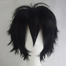 Fashion Multi Color Men Boy Short Straight Hair Wig Anime Party Cosplay Wigs HOT