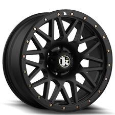 """17"""" Klutch Offroad KT02 17x9 Flat Black Wheels Rims Fits Jeep Wrangler JK and JL"""
