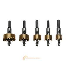 5pcs Hole Saw Cutter Drill Bit Set HSS Sheet Metal Alloy Reamer Wrench 16-30mm