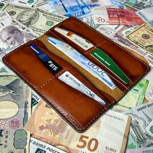 Longer / Wallet made of genuine leather, handmade
