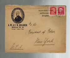 1920 Bullrich Book Company Berlin Germany to President of Police New York Cover