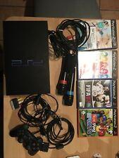 PlayStation 2 Konsole + original Controller + Kabel + 4 Spiele PS2 + Sing Star