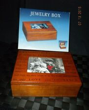 Grandmother's Jewelry Wooden Box With A 3X4 Photo Holder  NIB