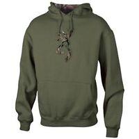 Mens NWT Browning Buckmark Camo Logo Sweatshirt Hoodie Clover Green
