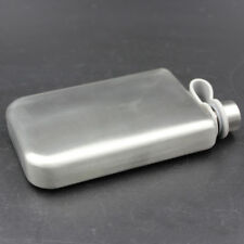 9oz Stainless Steel Pocket Hip Flask Alcohol Whiskey Liquor Container Silver