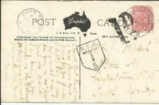 """New South Wales Sg#334 Alstonville 24/Ja/1907 postcard view """"Post and"""