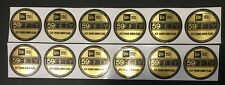 1 DOZEN NEW ERA FITTED 59FIFTY GOLD FOIL STICKER FOR CAP x HAT BRAND NEW 5950