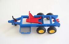 PLAYMOBIL (T4245) FERME - Chassis Bleu Complet pour Remorque Tracteur 3073
