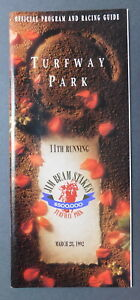 1992 JIM BEAM STAKES Program & Admission Ticket - LIL E. TEE - PAT DAY