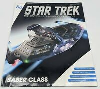 Eaglemoss Star Trek MAGAZINE ONLY *No Ship* # 56 USS YAEGER SABER CLASS