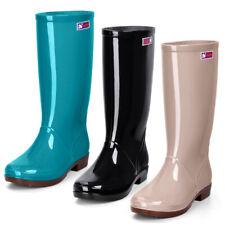 Women Knee High Waterproof PVC Rain Boots No Slip Garden Work Outdoor Shoe Gjxia