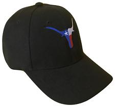 Texas Longhorns State Flag Adjustable Baseball Cap Caps Hat Hats USA UT Black