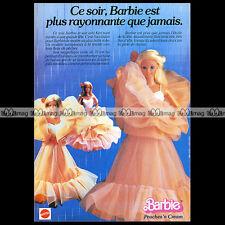 Mattel Vintage BARBIE en robe de soirée - 1985 Pub / Publicité / Ad #A142
