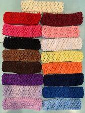 Lot 12 Crochet Headbands+ Freebie / Baby Girls 1.5� U Pick Colors!
