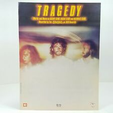 1979 The Bee Gees Tragedy Sheet Music Disco Dance Piano Vocals Guitar