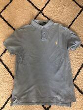 Ralph Lauren Polo Camisa Azul De Bebé Slim Fit Tamaño Mediano