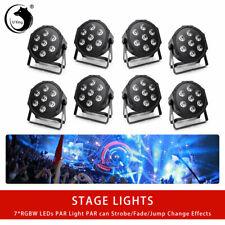 8PCS RGBW U`King 70W 7 LED Par Stage Lighting Disco DJ Show Pub Lighting DMX512