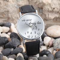 Women's Fashion With Cute Pattern Leather Band Casual Analog Quartz Wrist Watch