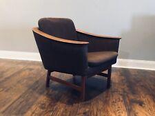 Vintage Westnofa Norway Mid Century Modern MCM Bent Wood Armed Teak Lounge Chair