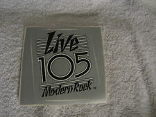 LIVE 105 Modern ROCK 105.3 FM RAdio Sticker Decal San Francisco - Vintage 80's