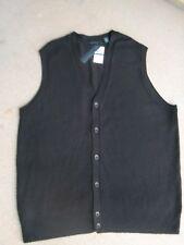 Sweater Vest W/Buttons~Size XLT~by Perry Ellis~SR $79.50~BLACK