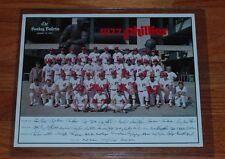 "1977 The Sunday Bulletin Philadelphia Phillies Color Team 10.25 x 13"" Poster"