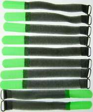 10 Klettkabelbinder Öse 160 x 16 mm neongrün SO Kabelbinder Klettband Kabelklett