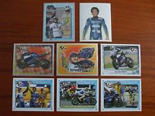 SET COMPLETO 8 FIGURINE STICKERS DI VALENTINO ROSSI YAMAHA MOTOGP 2005