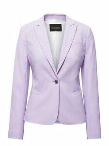 Nwt banana republic classic fit machine washable wool blend blazer suit 0 lilac