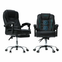 Gaming Chair Ergonomic Massage Reclining Office Chair Swivel Desk Computer