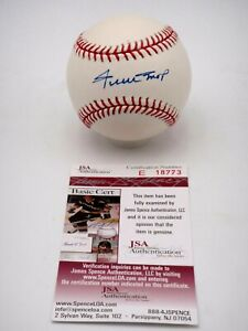 WILLIE MAYS JSA CERTIFIED SIGNED RAWLINGS NL BASEBALL AUTOGRAPHED HOF AUTO