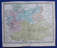 Original antique map GERMANY & POLAND, Felix Ansart, c.1855