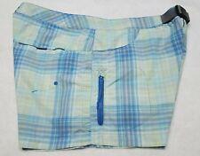 Columbia Womens  Plaid Shorts Nylon Size 12 GUC