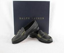 New Ralph Lauren Edric Black Penny Loafer Shoes Made In USA 4 $395