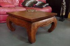 Opiumtisch Holz,70x70x40cm, massiv, Couchtisch, Beistelltisch, Sofatisch, Tisch