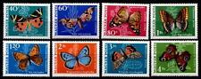 Schmetterlinge. 8W. Ungarn 1969