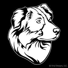 AUSTRALIAN SHEPHERD DOG PORTRAIT DECAL -AUSSIES STICKER