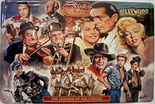 The Legends of Hollywood Metal Sign Signboard 3d Embossed Tin Sign 20 X 30 Cm