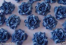 12 NAVY  cake cupcake topper edible large  ROSE flower (3cm) sugar paste