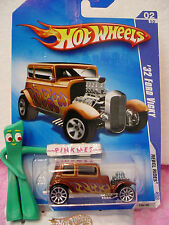 2009 Hot Wheels '32 FORD VICKY 1932 #138~Brown;chrome M; 10sp~Rebel Rides