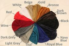 2 for $15! TURBAN HAT HEAD WRAP BAND CAP BANDANA HIJAB INDIAN HAIR LOSS CHEMO