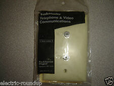 Pass & Seymour TPCATV2-I Legrand (2) F type F-81 Coax Connector Wall Plate Ivory