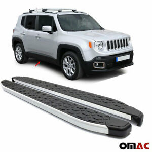 Side Steps Running Boards Nerf Bars Aluminum 2 Pcs. For Jeep Renegade  2015-2020