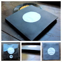 """50 SHEETS - BLACK POLYLINED PAPER RECORD SLEEVES 7"""" VINYL RECORDS (45RPM)"""