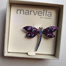 VTG  MONET Marvella Butterfly Broch Enameled W Rhinestones  RETIRED!